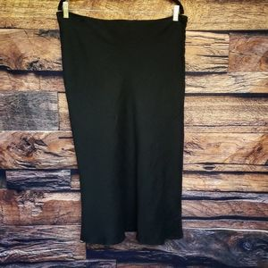 Eileen Fisher Linen Blend Black Skirt